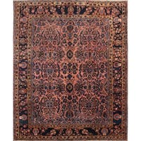 "The Curated Nomad Galloway Pre-1900 Antique Floral Handmade Wool Persian Heirloom Item Area Rug - 13'2"" x 10'10"""