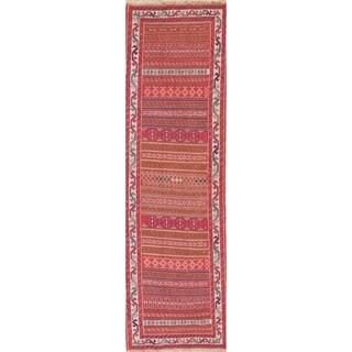 "Copper Grove Strib Geometric Hand Woven Wool Persian Rug - 9'1"" x 2'8"" Runner"