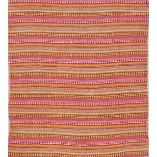 """Copper Grove Grasten Stripe Hand Woven Wool Persian Area Rug - 6'5"""" x 5'10"""" Square"""