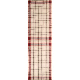 "The Curated Nomad Plaiden Kilim Hand-woven Wool Heirloom Item Runner Rug - 15'8"" x 4'8"" Runner"