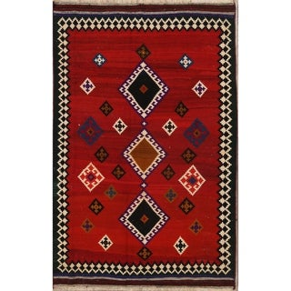 "The Curated Nomad Paterson Kilim Hand-woven Wool Heirloom Item Area Rug - 7'5"" x 4'10"""