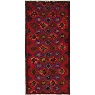 "Gracewood Hollow Quiroga Geometric Handmade Wool Persian Runng Rug - 8'0"" x 3'9"" Runner"