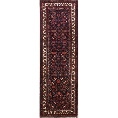 "The Curated Nomad Colquhoun Geometric Handmade Wool Persian Heirloom Item Area Rug - 10'11"" x 3'6"" Runner"