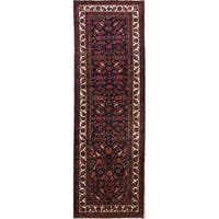 "The Curated Nomad Colquhoun Geometric Handmade Wool Persian Heirloom Item Area Rug - 10'11"" x 3'6"" Runner"