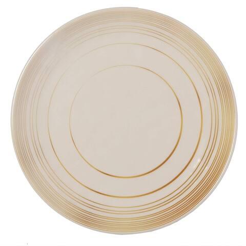 Melange 36-Piece Melamine Salad Plate Set (Gold Timber Collection ) Shatter-Proof and Chip-Resistant Melamine Salad Plates