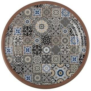Link to Melange 6-Piece Melamine Dinner Plate Set (Moroccan Tiles)|Shatter-Proof and Chip-Resistant Melamine Dinner Plates| Grey Similar Items in Dinnerware