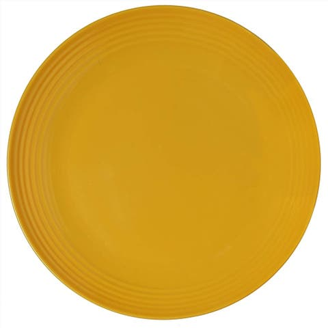 Melange 6-Piece Melamine Salad Plate Set (Solids Collection ) Shatter-Proof and Chip-Resistant Melamine Salad Plates Yellow