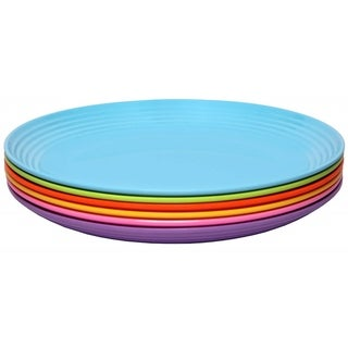 Link to Melange 6-Piece Melamine Salad Plate Set (Solids Collection )|Shatter-Proof Salad Plates| Multicolor Similar Items in Dinnerware