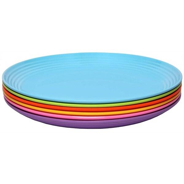 Melange 6-Piece Melamine Salad Plate Set (Solids Collection )|Shatter-Proof Salad Plates| Multicolor. Opens flyout.