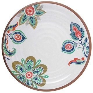 Link to Melange 6-Piece 100% Melamine Salad Plate Set (Flowers in Clay) | Shatter-Proof and Chip-Resistant Melamine Salad Plates Similar Items in Dinnerware