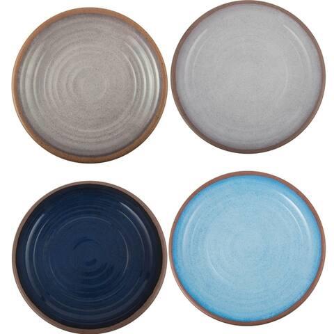 Melange 6-Piece Melamine Salad Plate Set (Clay Collection) Shatter-Proof Salad Plates Pastel Colors