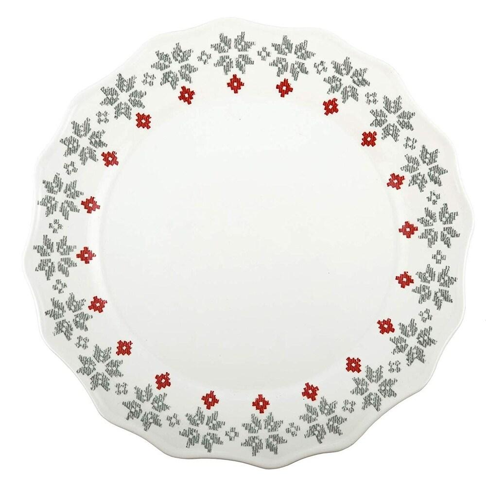 Overstockmelange 18 Pcs Dinnerware Set For 6 Christmas Collection Nutcracker Melamine Dinner Plate Salad Plate Soup Bowl White Dailymail