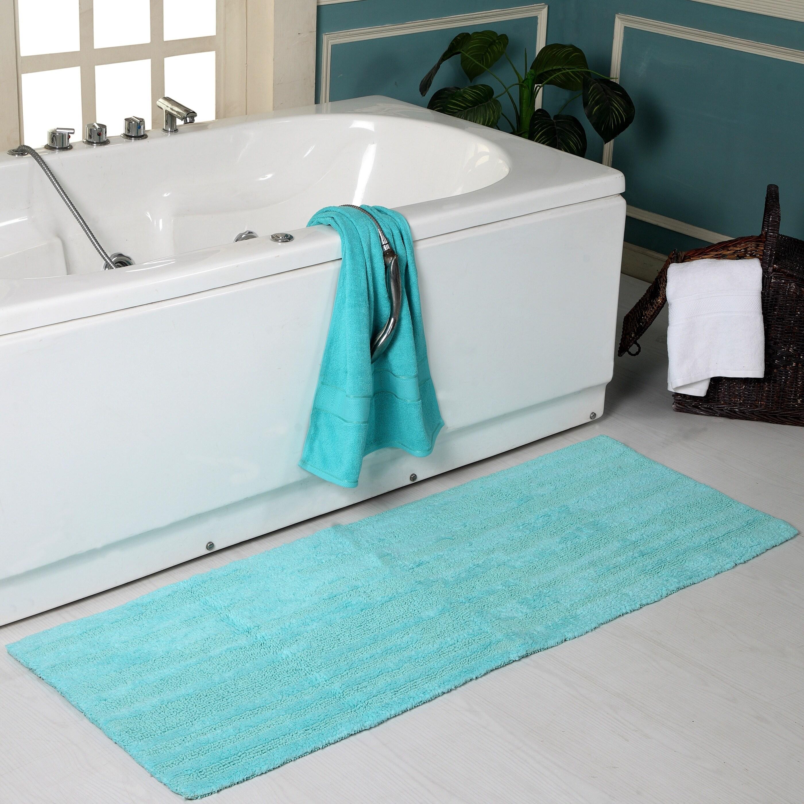 Textured Oversized 22 X 60 Bath Rug