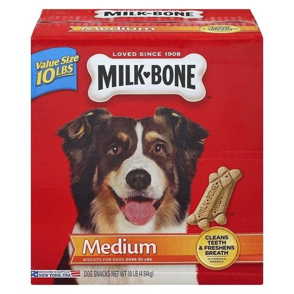Milk Bone Original Medium Sized Dog Biscuits, Original, 10 lbs - 10 lbs. Opens flyout.