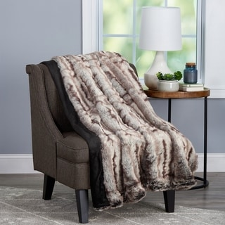 Link to Fauxfur Throw- Hypoallergenic Fauxfur Blanket with Fauxmink Back and Gift Box, 60x70 by Windsor Home (Striped) Similar Items in Blankets & Throws