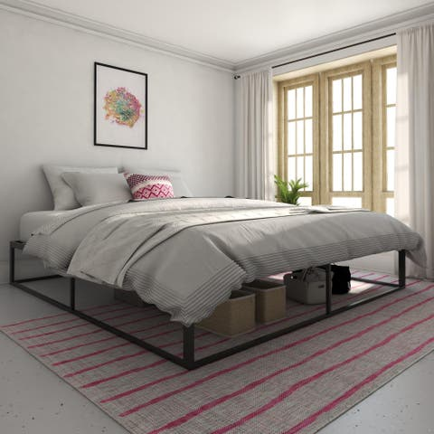 Novogratz Boutique Metal Storage Platform Bed