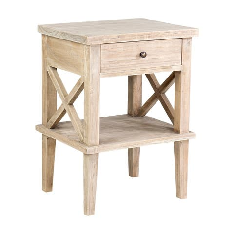 East at Main's Bevan Mindi Wood Bedside Table