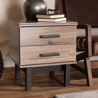 Modern and Contemporary Two-Tone 2-Drawer End Table