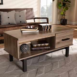Modern and Contemporary Two-Tone 1-Drawer Coffee Table