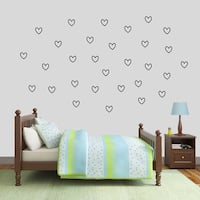 Outlined Hearts Wall Decal Pack