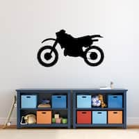 Dirt Bike Silhouette Wall Decal
