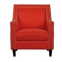 Transitional Nailhead Trim Accent Chair in Blue (As Is Item)