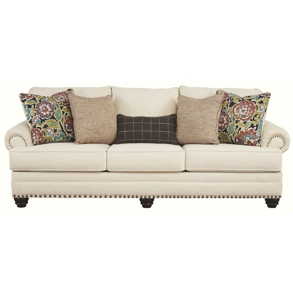 Pleasing Shop Signature Design By Ashley Harrietson Shell Queen Sofa Interior Design Ideas Clesiryabchikinfo