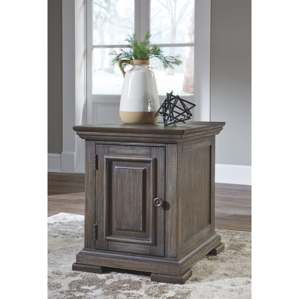Wyndahl Chairside End Table - Brown