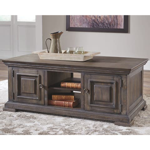 Wyndahl Coffee Table with Storage - Brown