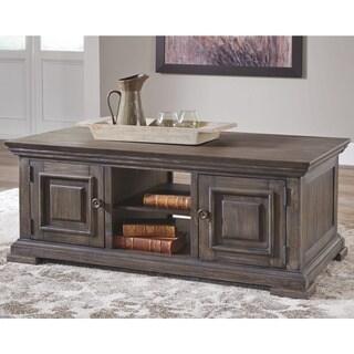 Wyndahl Coffee Table with Storage - Brown