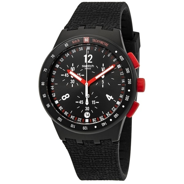 Swatch Stand Hall Chronograph Silicone Mens Watch SUSB411