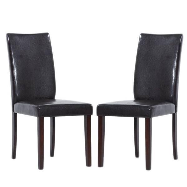 Tremendous Shino Brown Bi Cast Leather Dining Chairs Set Of 8 Creativecarmelina Interior Chair Design Creativecarmelinacom