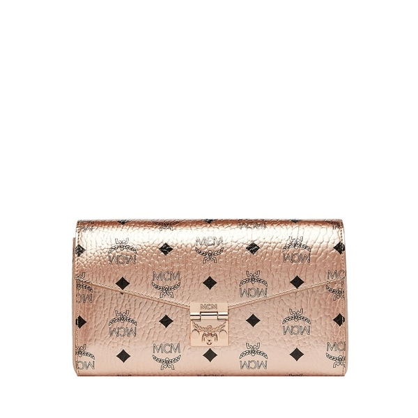 105a95bb81185e Shop Mcm Millie Visetos Canvas Wallet On A Chain - Free Shipping ...