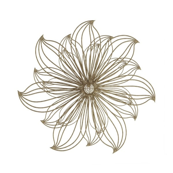 27 Inch Large Wire Flower Metal Indoor Wall Hanging Floral Sculpture Home Decor