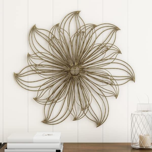 Carson Carrington Metallic Llarge Wire Flower Sculpture