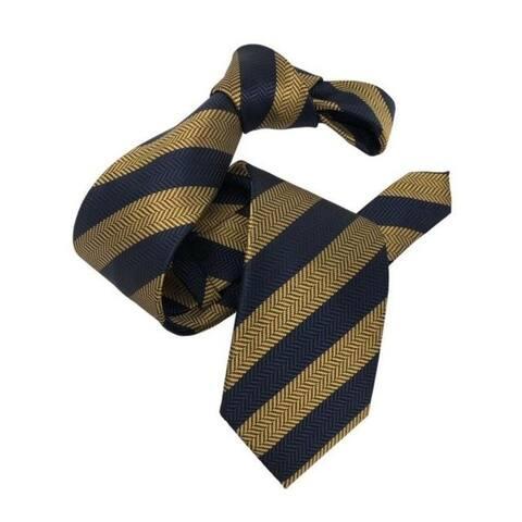 DMITRY Men's Gold Striped Italian Silk Tie