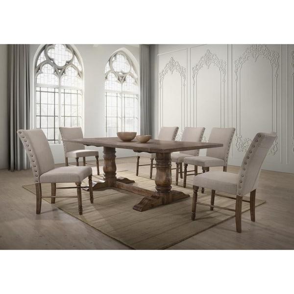 Shop Best Master Furniture Weathered Oak Sleigh: Shop Best Master Furniture Antique Natural 7-piece Oak