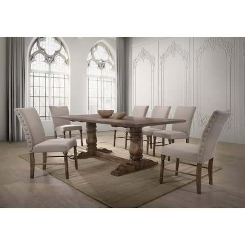 Best Master Furniture Antique Natural 7-piece Oak Dining Set
