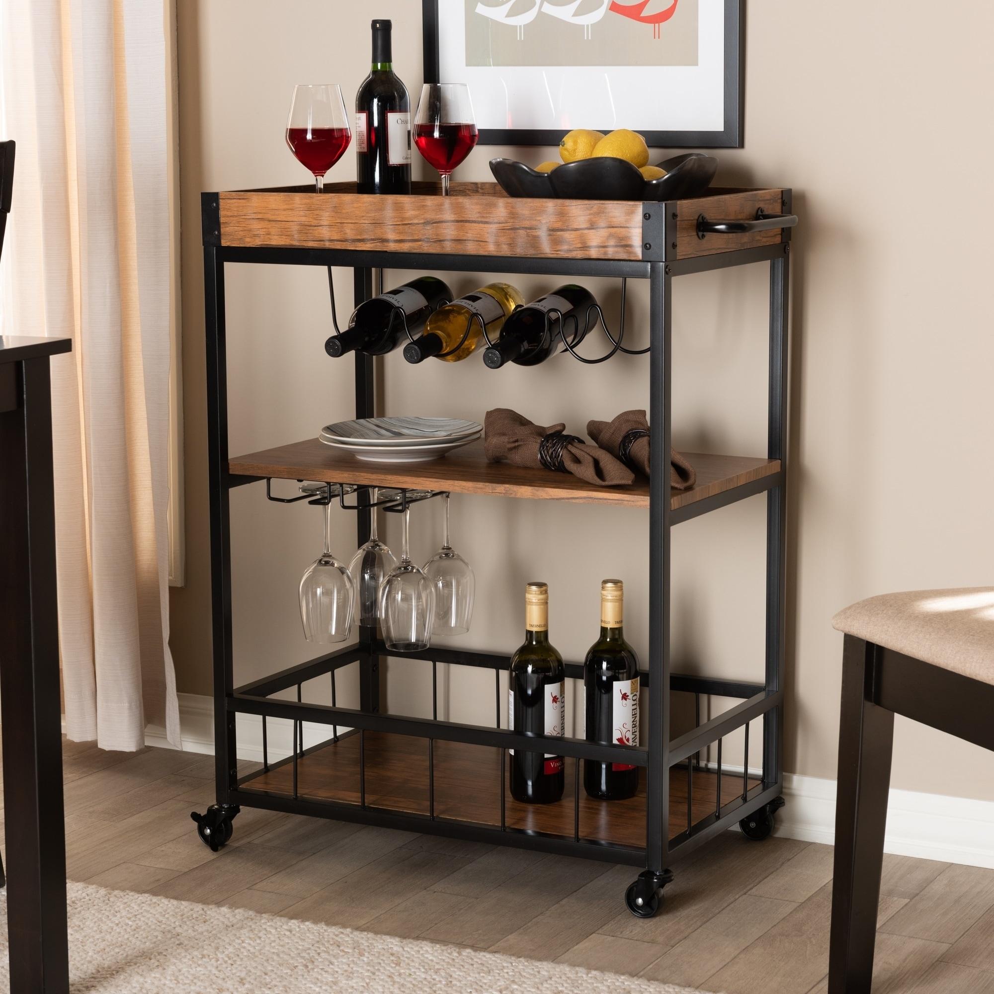 Bar Carts Bar Carts With Wine Rack