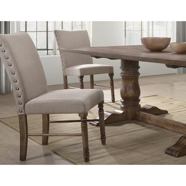 Shop Best Master Furniture Weathered Oak Sleigh: Shop Best Master Furniture Antique Natural Oak Side Chairs