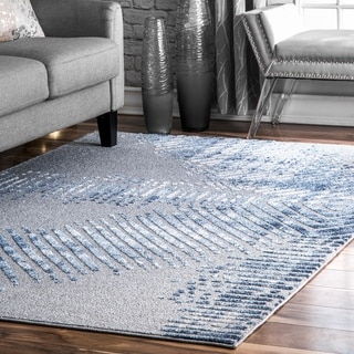Porch & Den Treat Ave Modern Abstract Diamond Linear Fade Area Rug