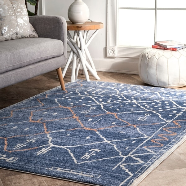 The Curated Nomad Kahlo Contemporary Abstract Aztec Dot Diamond Striped Area Rug