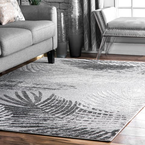 Porch & Den Troutman Modern Faded Palmette Area Rug