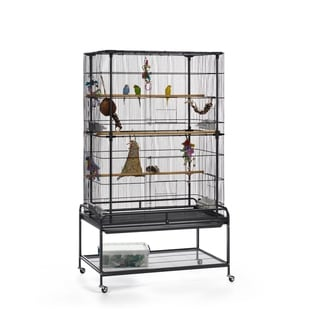 Link to Prevue Pet Products Playtop Flight Cage with Stand F085 Similar Items in Bird Cages
