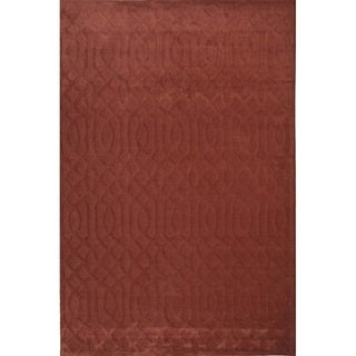 "Livingston Home LH12-591 C Wool Tufted Area Rug (Red, 8""x10"") - 8""x10"""