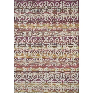 "Livingston Home LH16-124 E Wool Tufted Area Rug (Custom Red Ivory, 6""x9"") - 6""x9"""