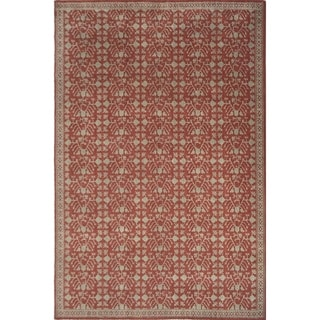 "Livingston Home LH14-975 Loom Carpet/wool  Area Rug (Forbidden Red, 8""x10"") - 8""x10"""