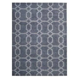 "Livingston Home LH15-014 Tahara Area Rug (Grey, 7""x10"") - 7""x10"""
