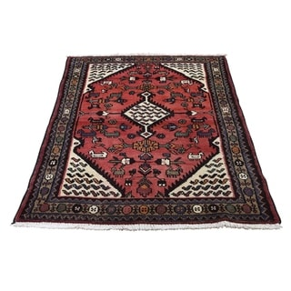 """Shahbanu Rugs New Persian Mosel Pure Wool Hand-Knotted Oriental Rug (3'3"""" x 4'10"""") - 3'3"""" x 4'10"""""""