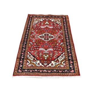 "Shahbanu Rugs Vintage Persian Lilahan Pure Wool Hand-Knotted Oriental Rug (2'7"" x 4'5"") - 2'7"" x 4'5"""